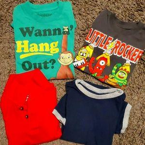4 pack bundle assorted short sleeve shirts 3T